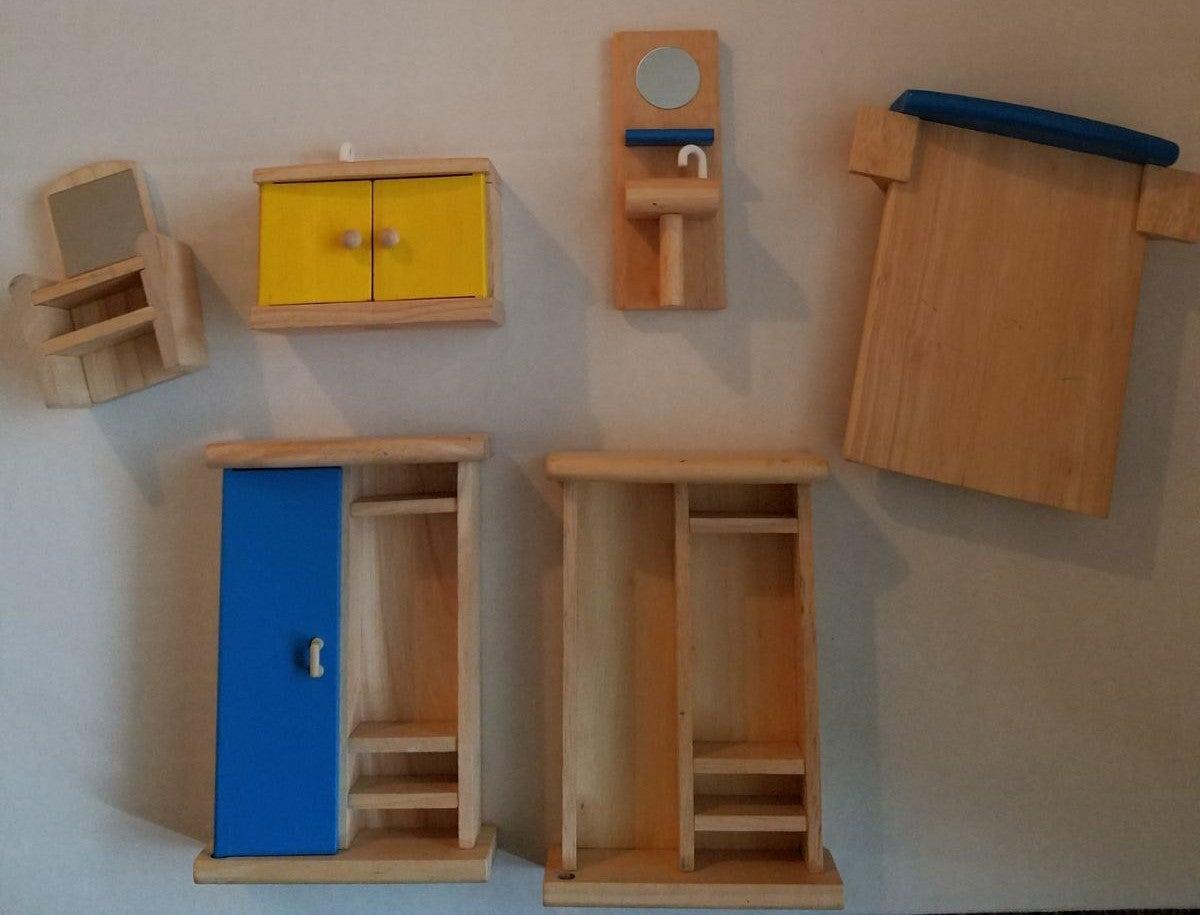 Plan toys wooden dollhouse furniture lot