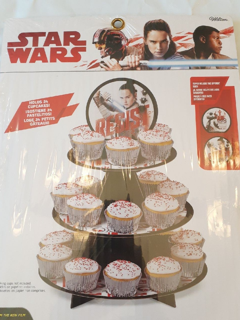 Star Wars Last Jedi Cupcake Stand Nwt