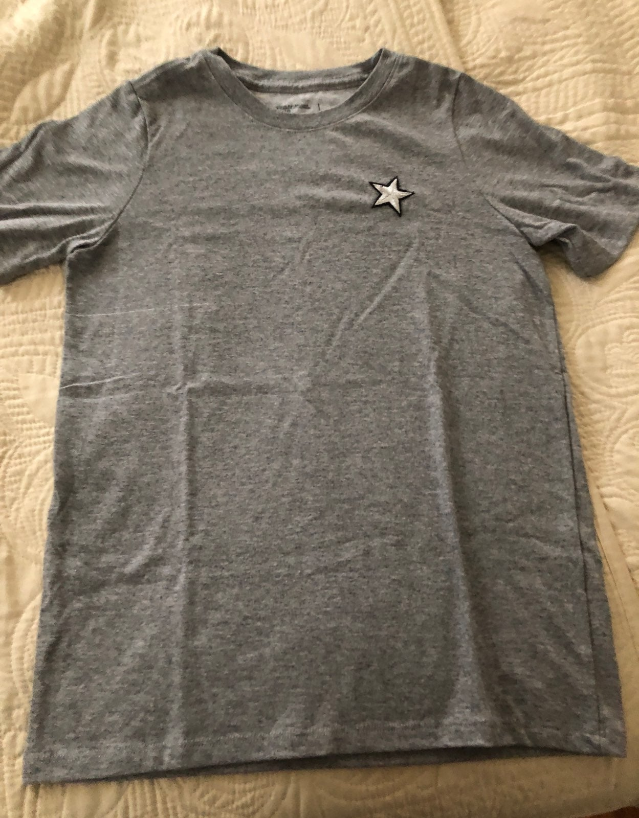Tshirt youth gray cotton small