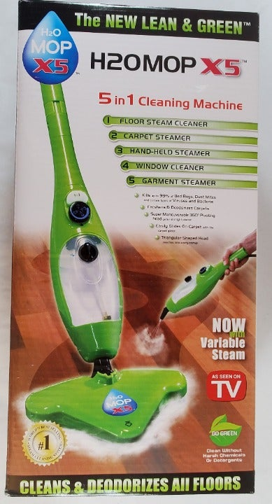 Lean and Green H2O Steam Mop X5 NEW