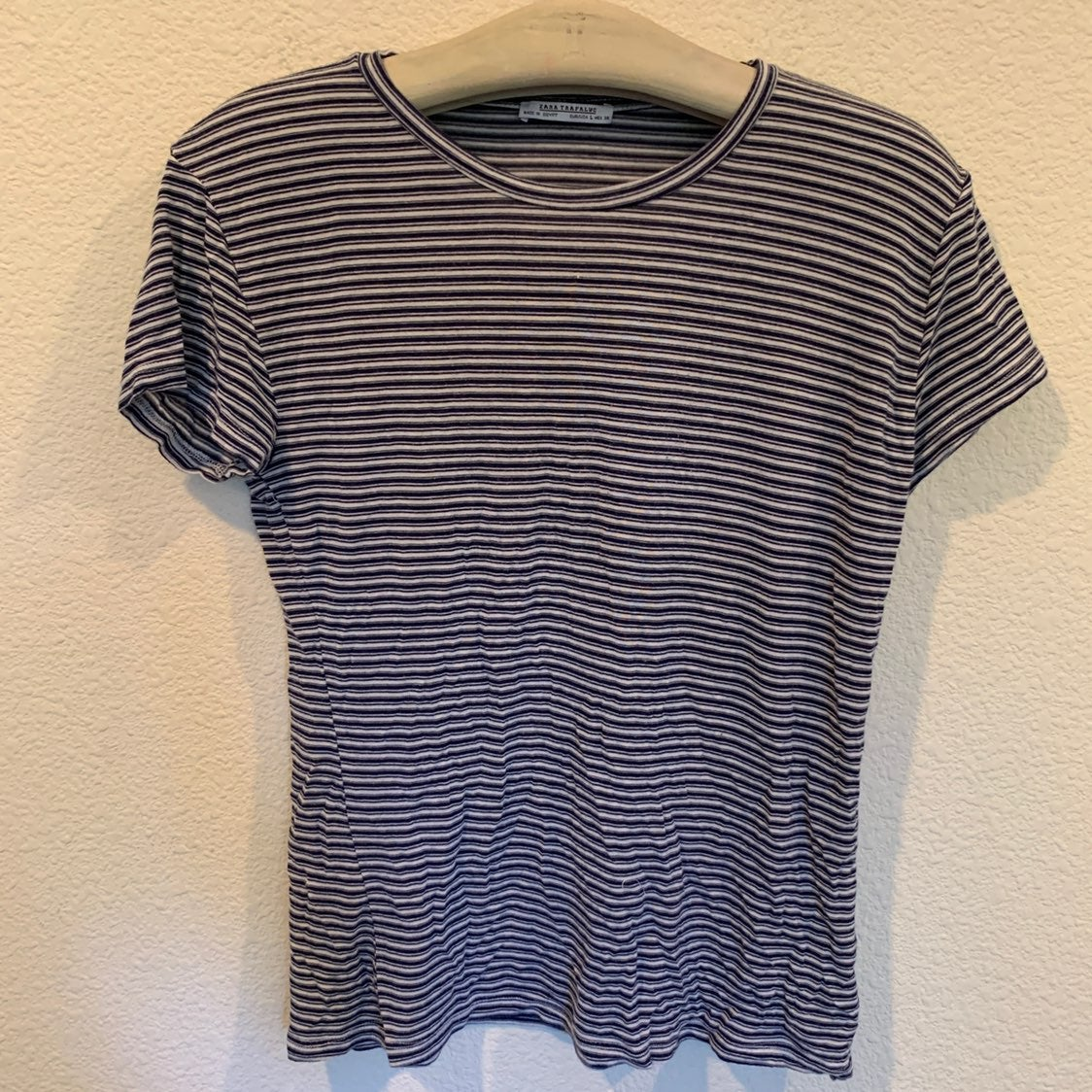 Zara super soft striped tee shirt