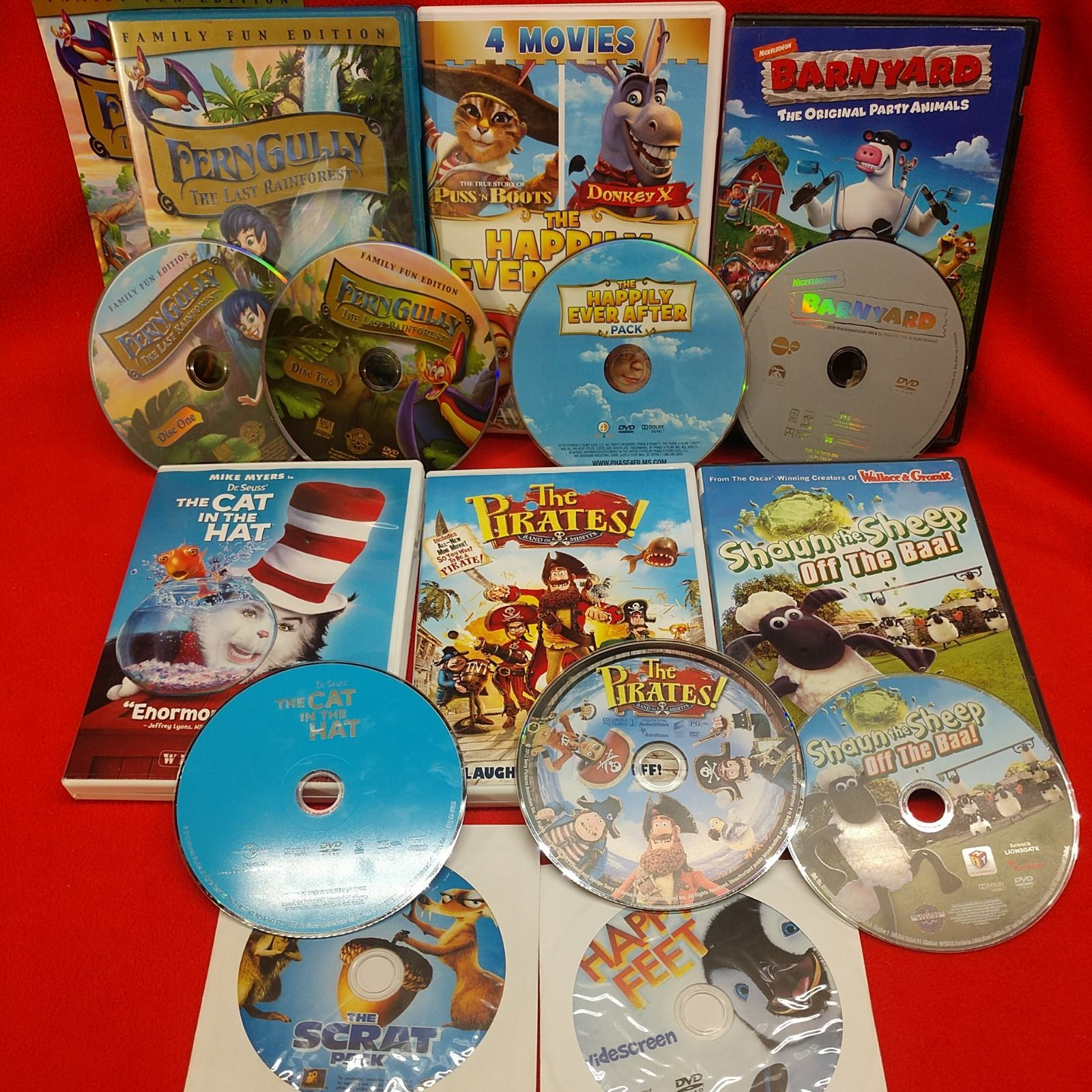 DVD KIDS 8 MOVIE DVD LOT: CAT IN THE HAT
