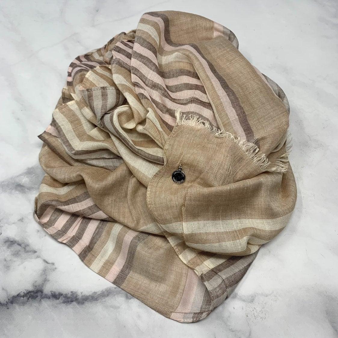 Calvin Klein Striped Lightweight Scarf