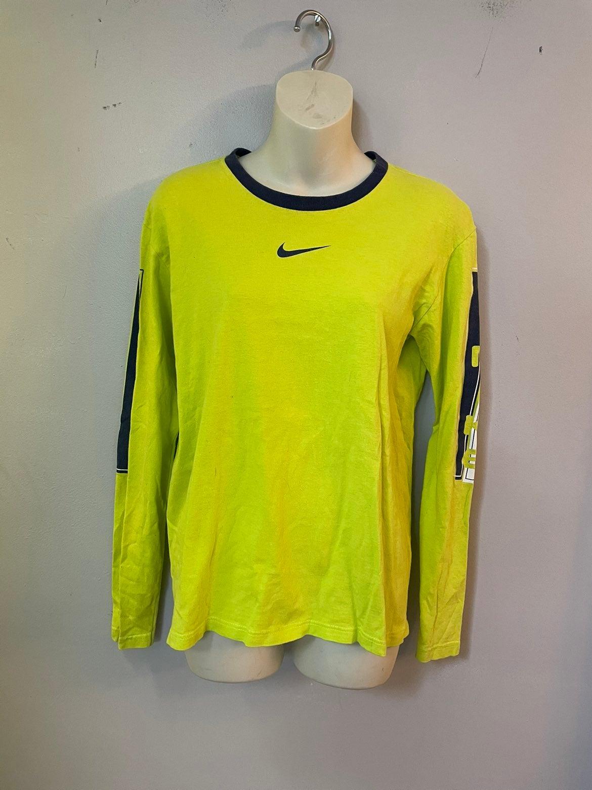 Nike vintage neon green shirt YM or XS/S