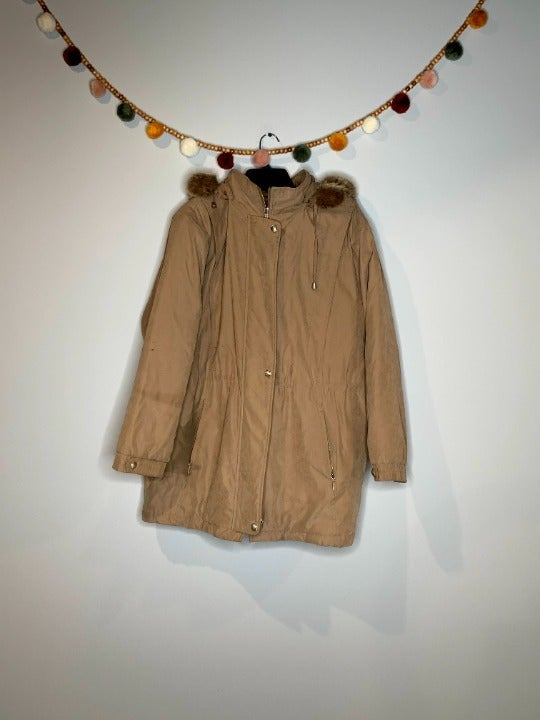 1 Madison tan parka