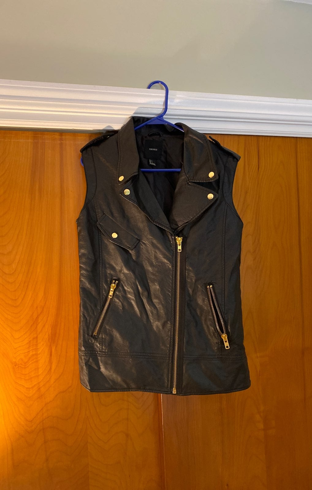 NWOT | Faux leather vest
