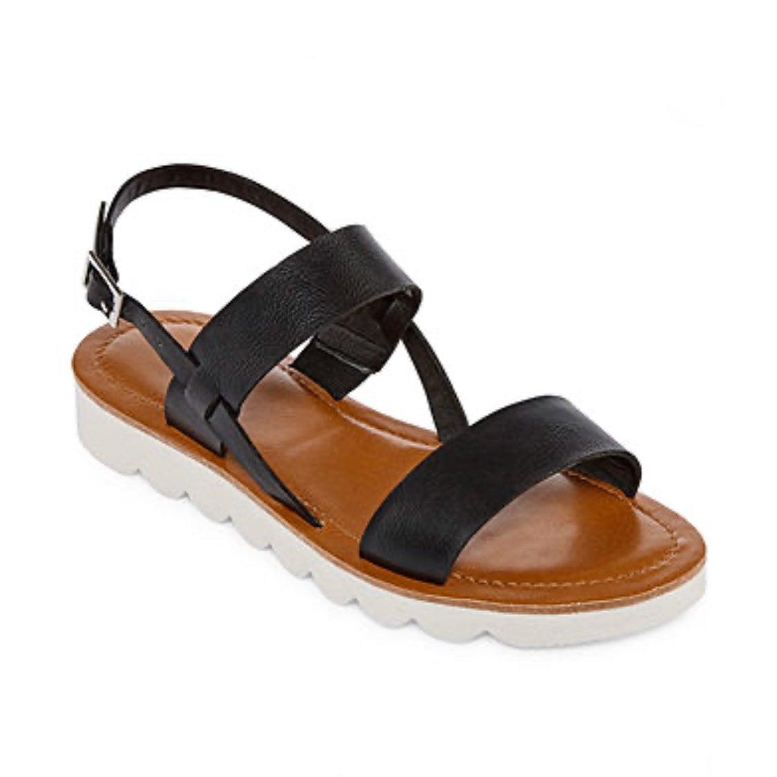 New Arizona Black Strap Sandals