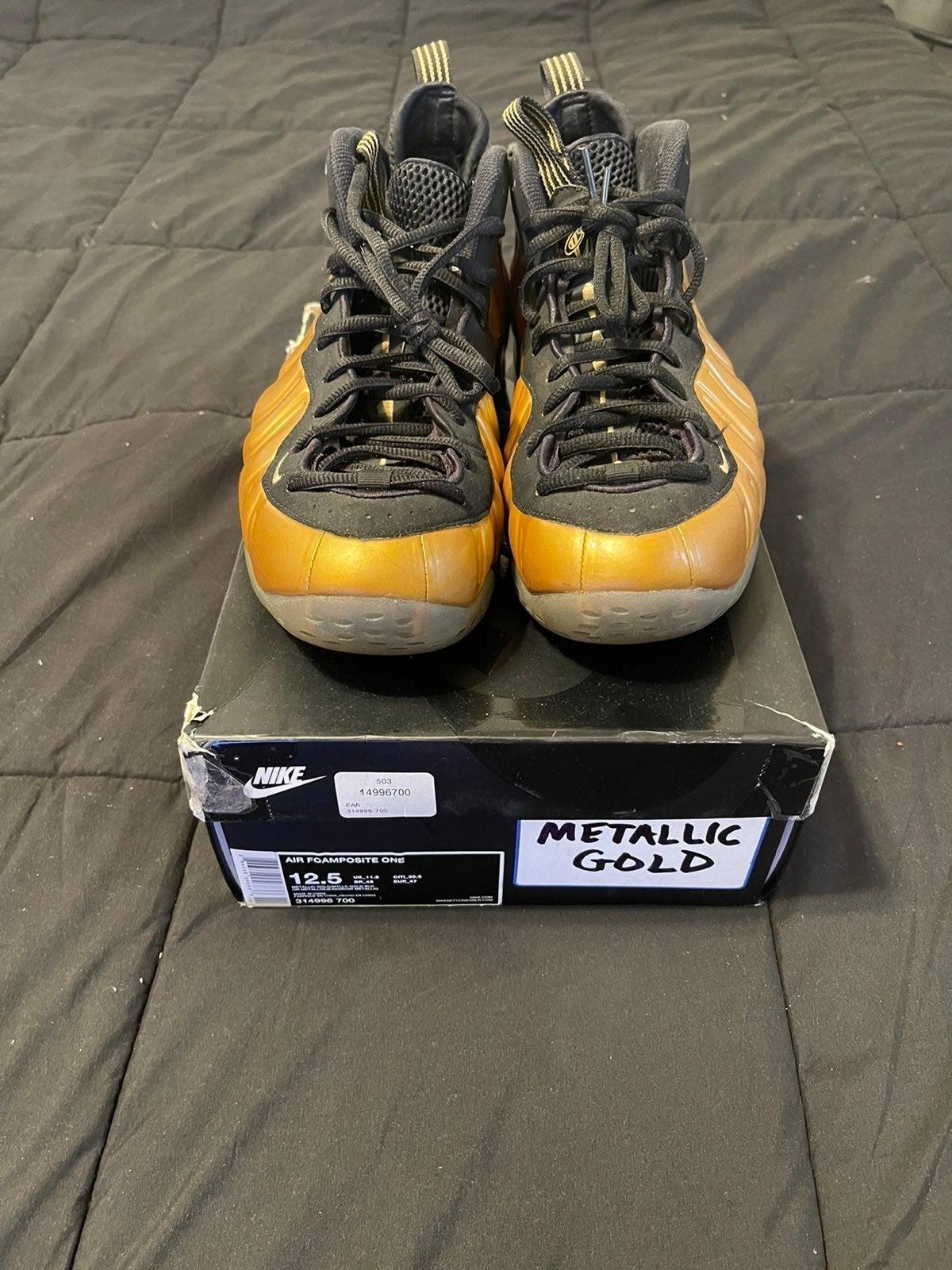 Nike Foamposite Metallic Gold - Sz. 12.5