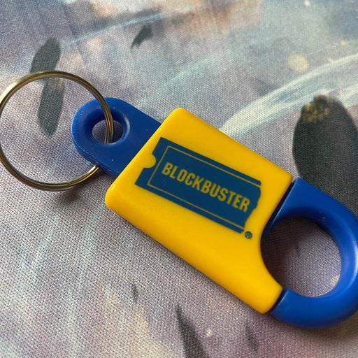 Vintage Blockbuster Key Chain