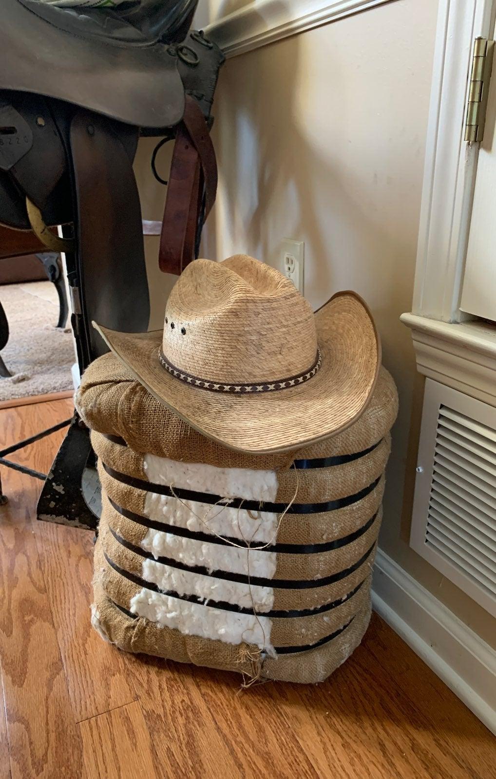 Resistol cowboy hat palm leaf 7 1/4