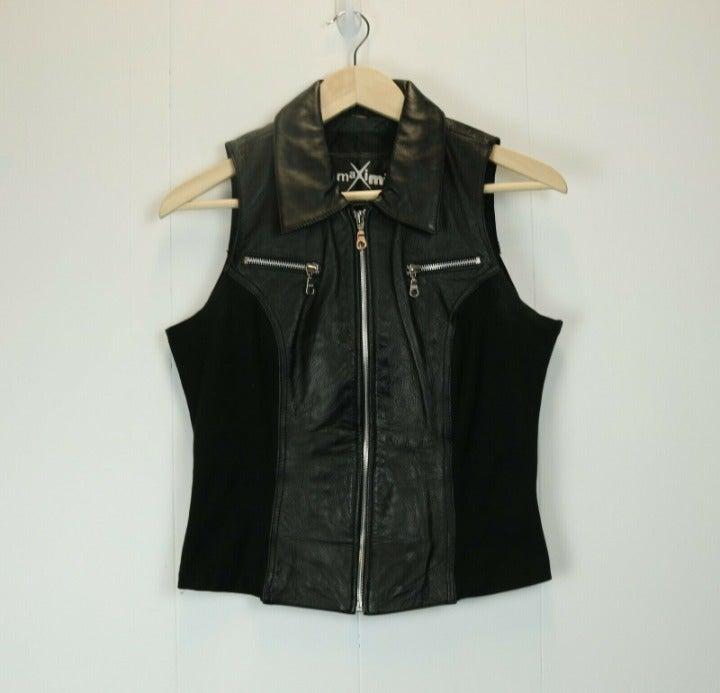 Wilson Maxima Leather Vest Top Jacket M