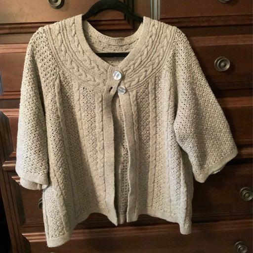 Ladies 2 Button Sweater Cape