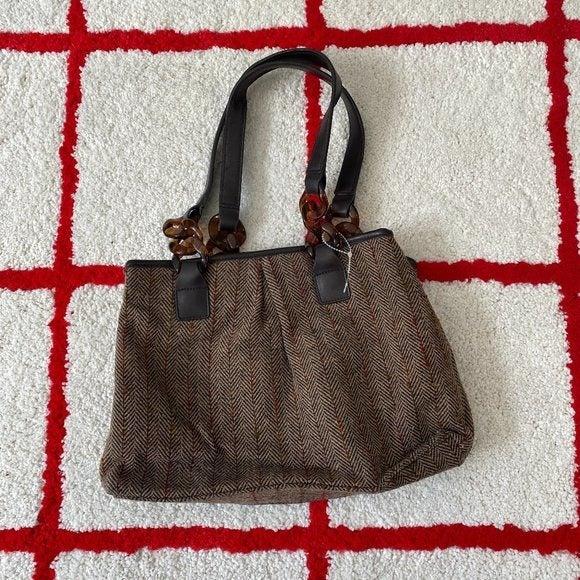 VTG Old Navy Wool Herringbone Handbag