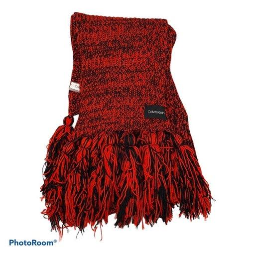 Calvin Klein Chunky Red & Black Scarf