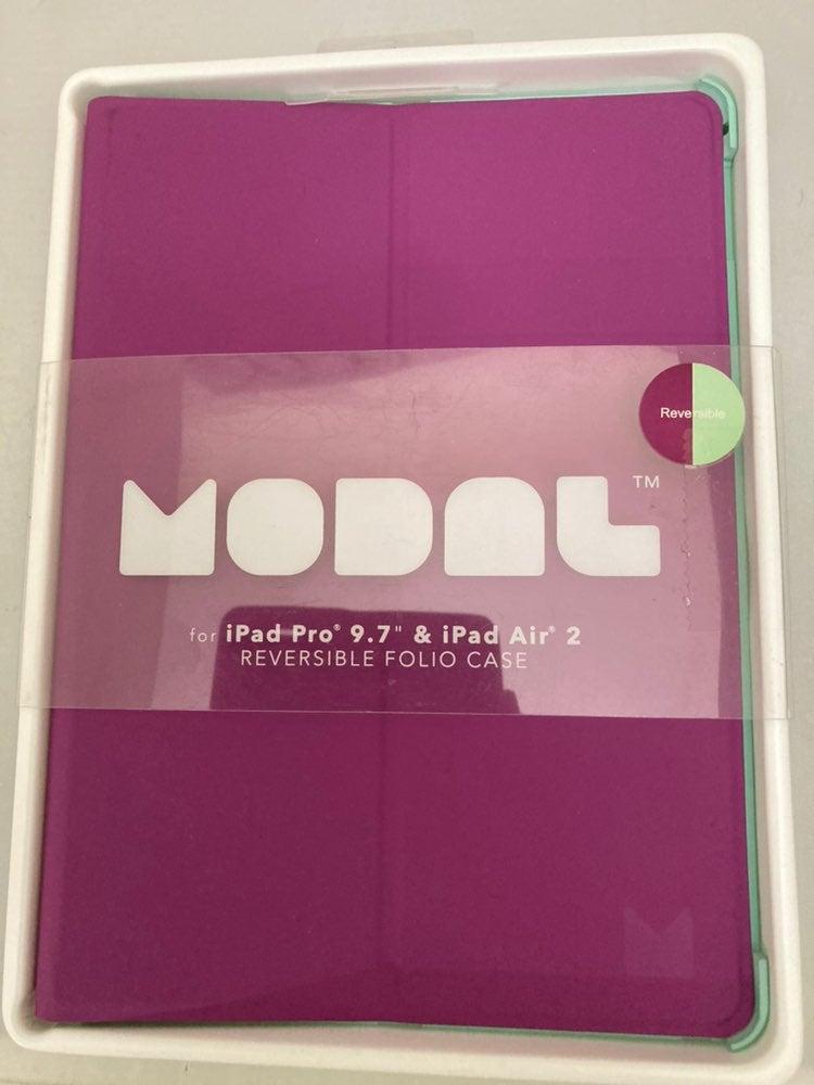 Modal-iPad Pro/Air 2 Case - Purple/Mint