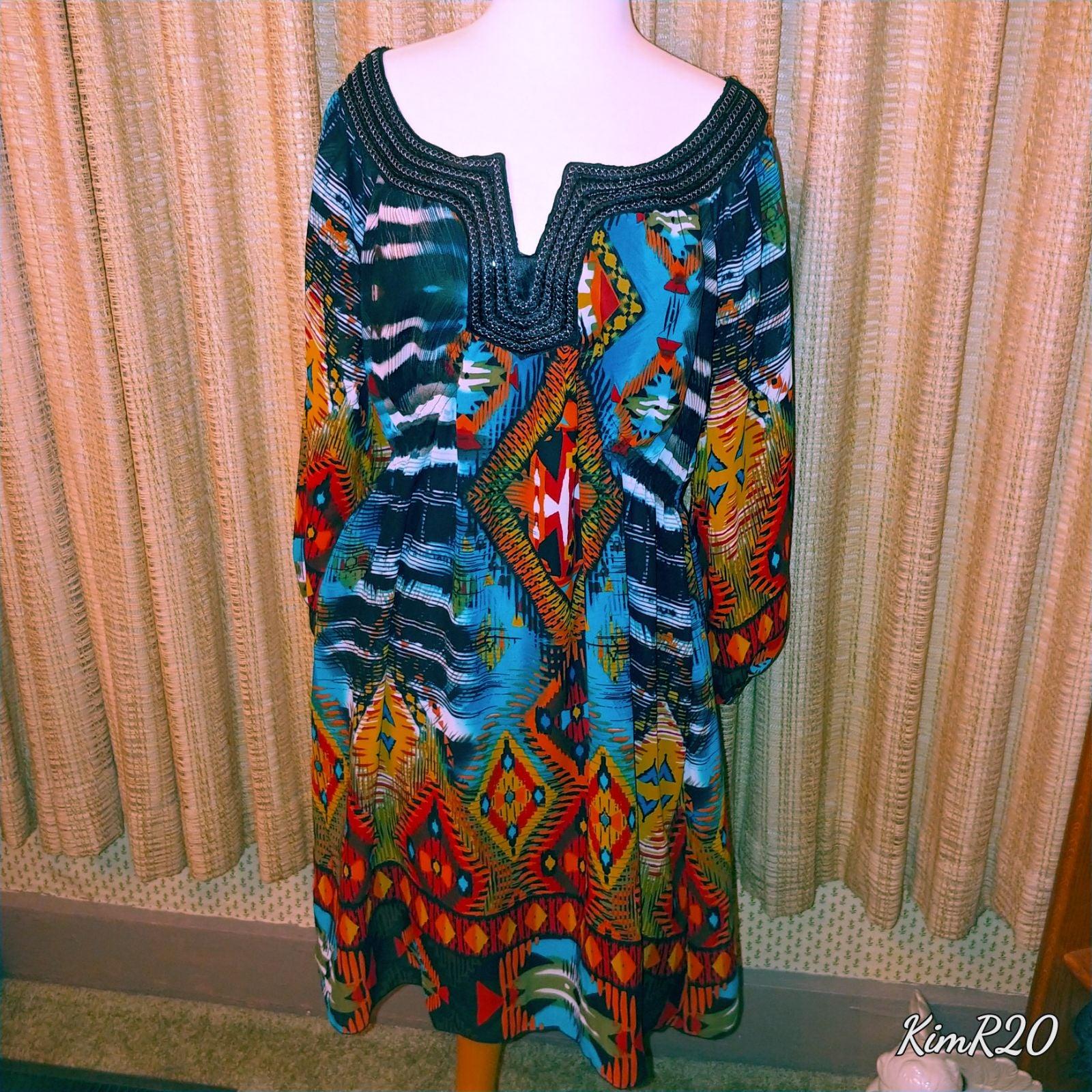 Dress Bohemian style by One World size L