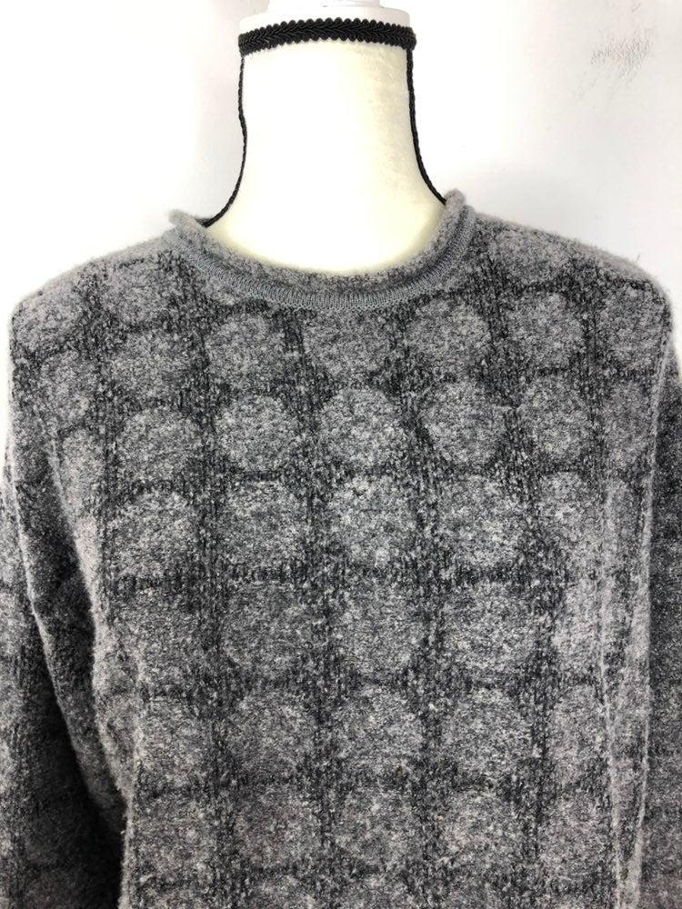 Bugatchi wool blend sweater Gray Large