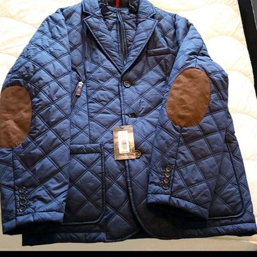 Cremieux navy puffer jacket