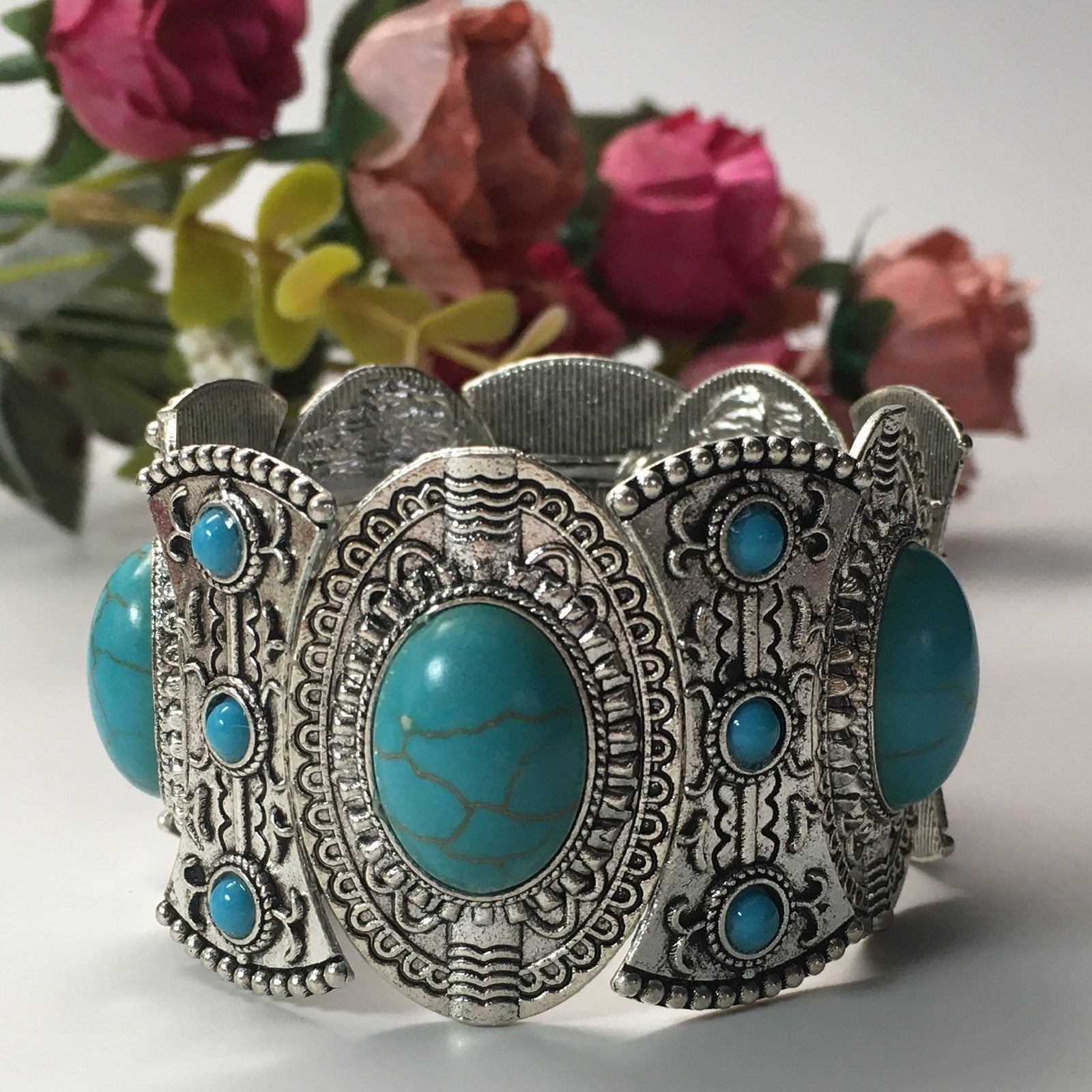 TURQUOISE BANGLE BRACELET - new
