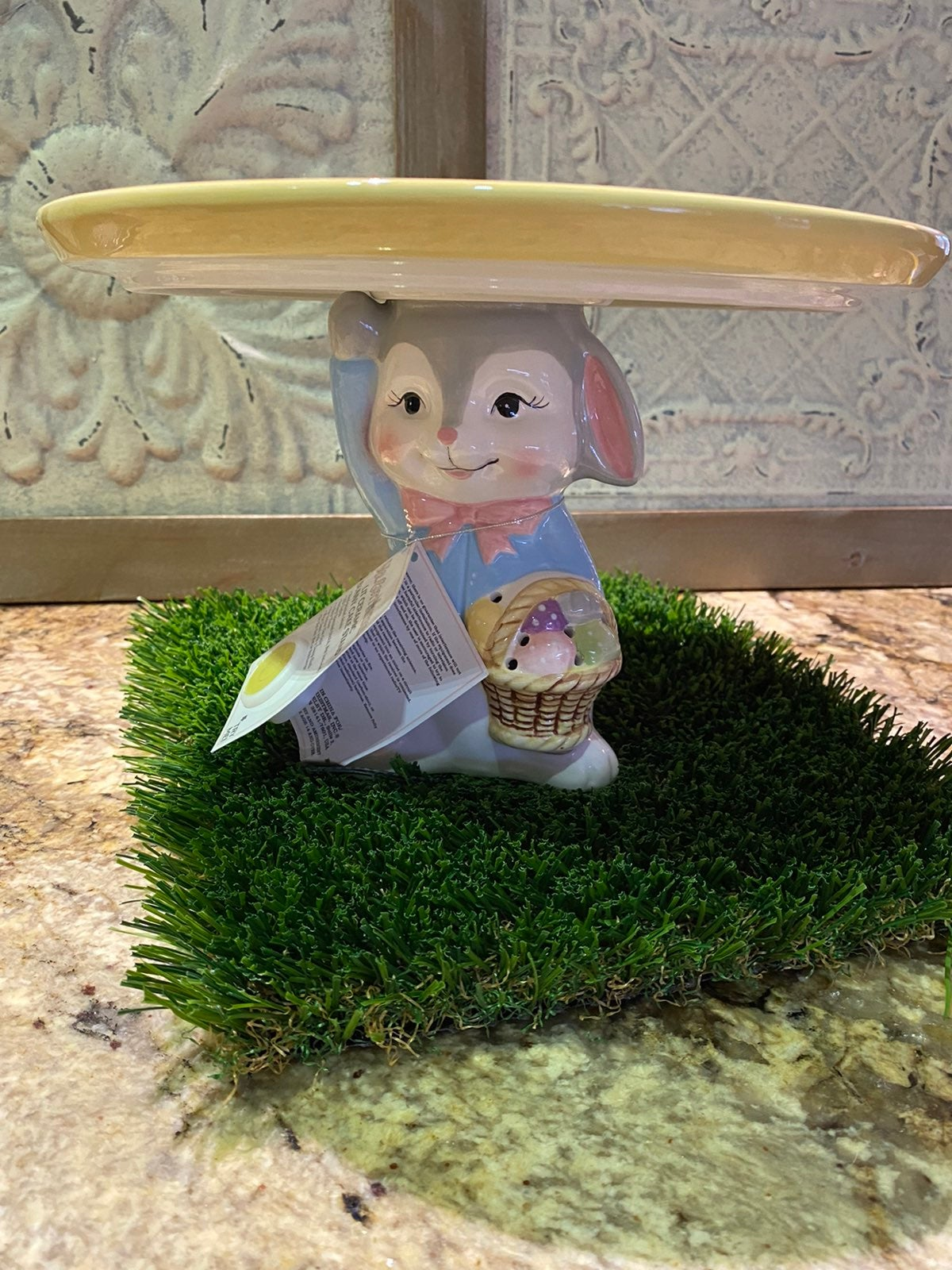 Mr. Cottontail Plate/Cake/Candle Stand