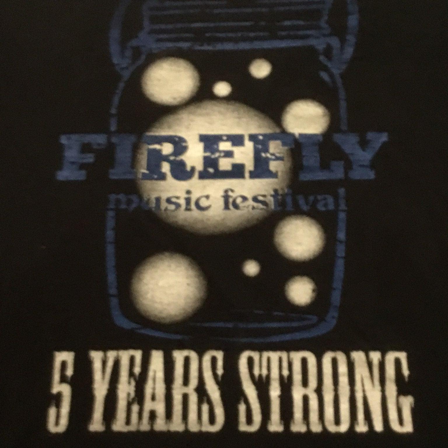 Firefly music festival tshirt
