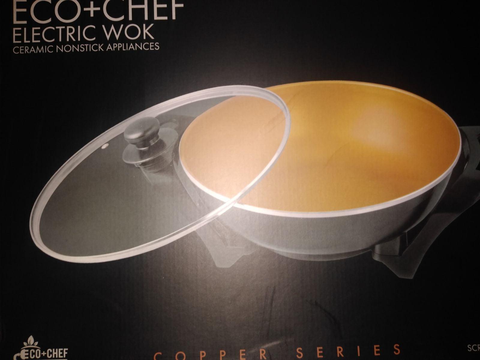 Copper electric wok