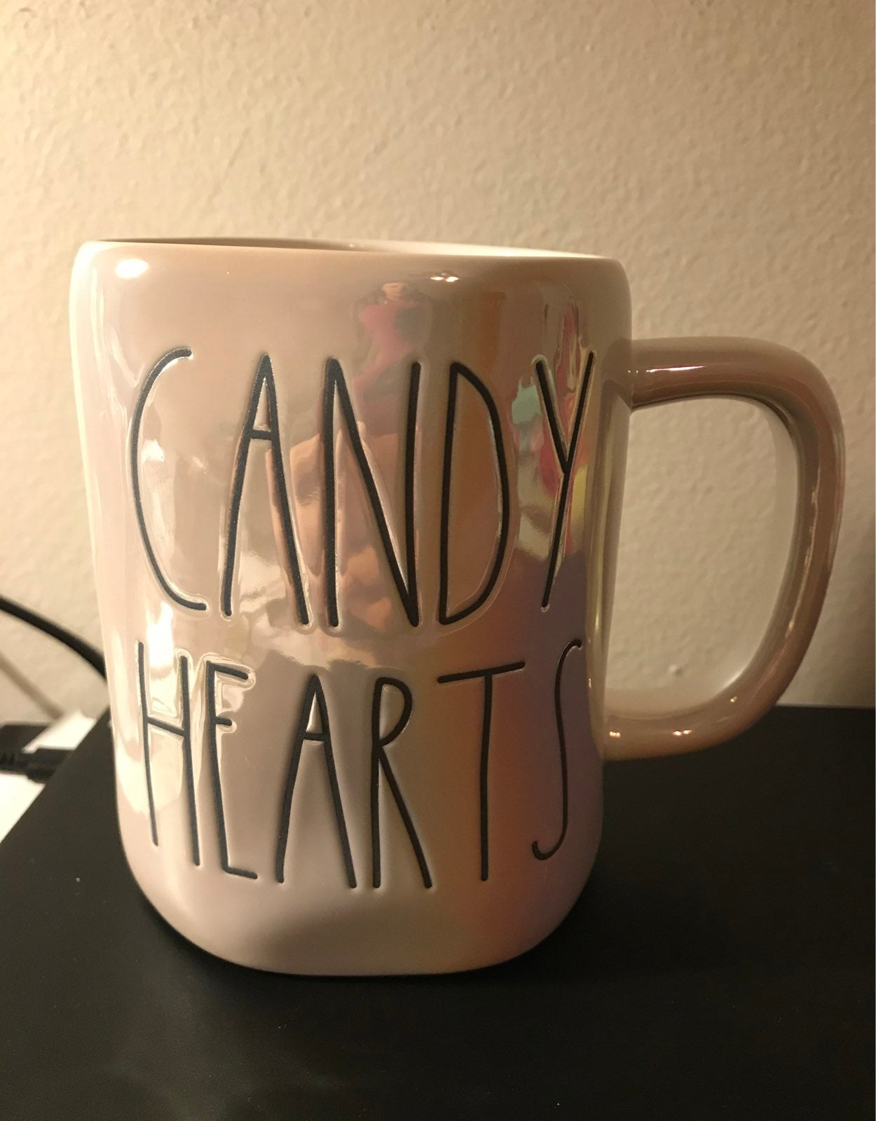 Rae Dunn Candy Hearts Iridescent Mug
