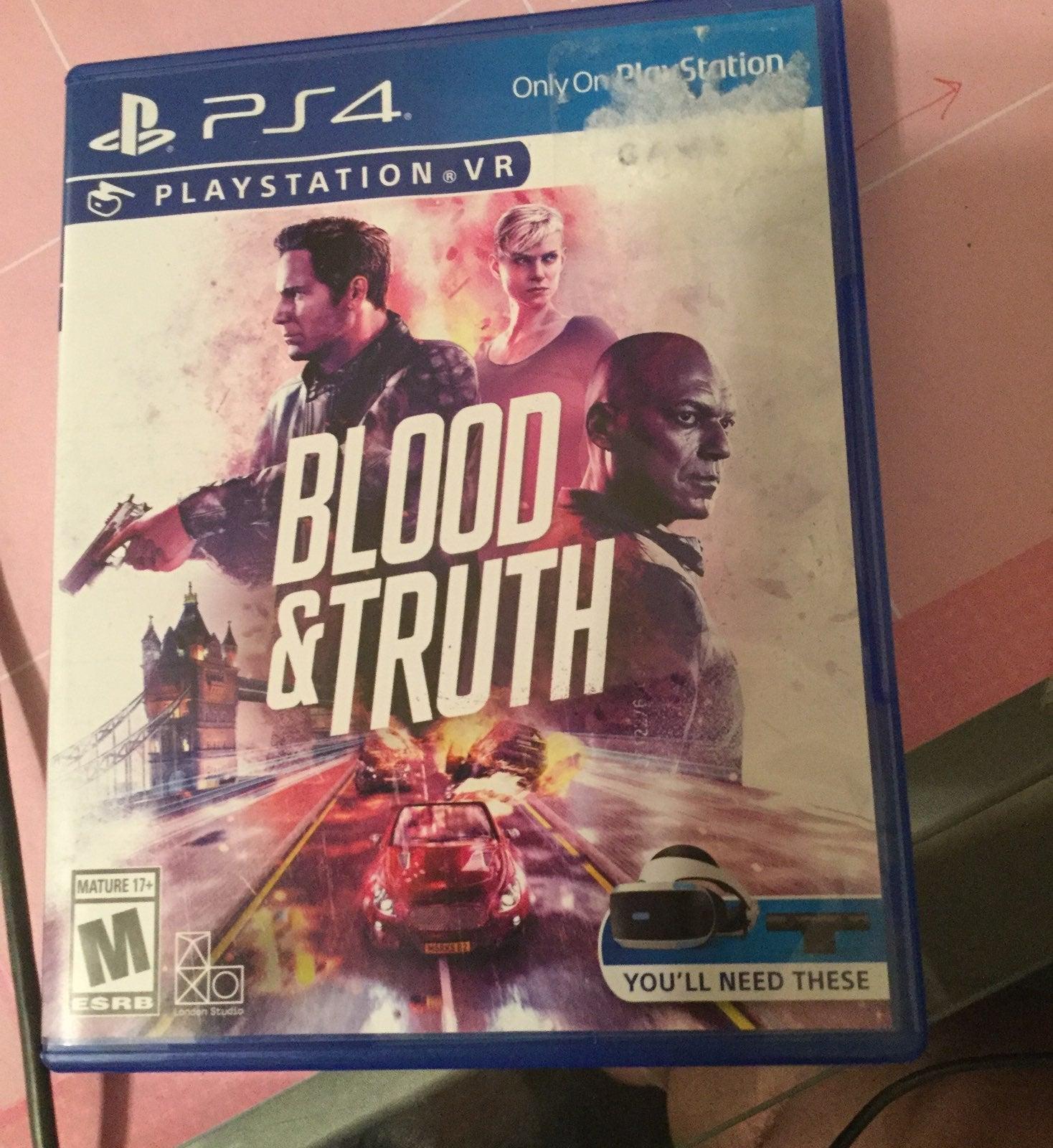 Blood & truth ps4 psvr
