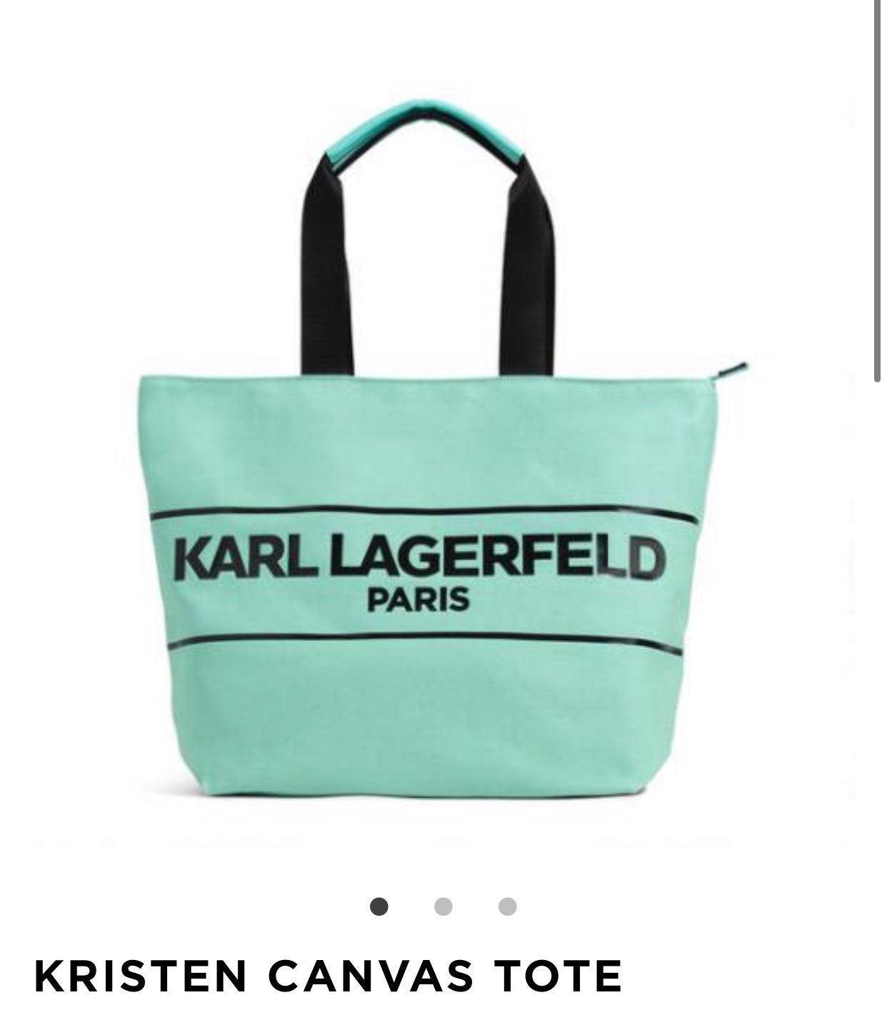 Karl Lagerfeld Tiffany Blue Tote Bag