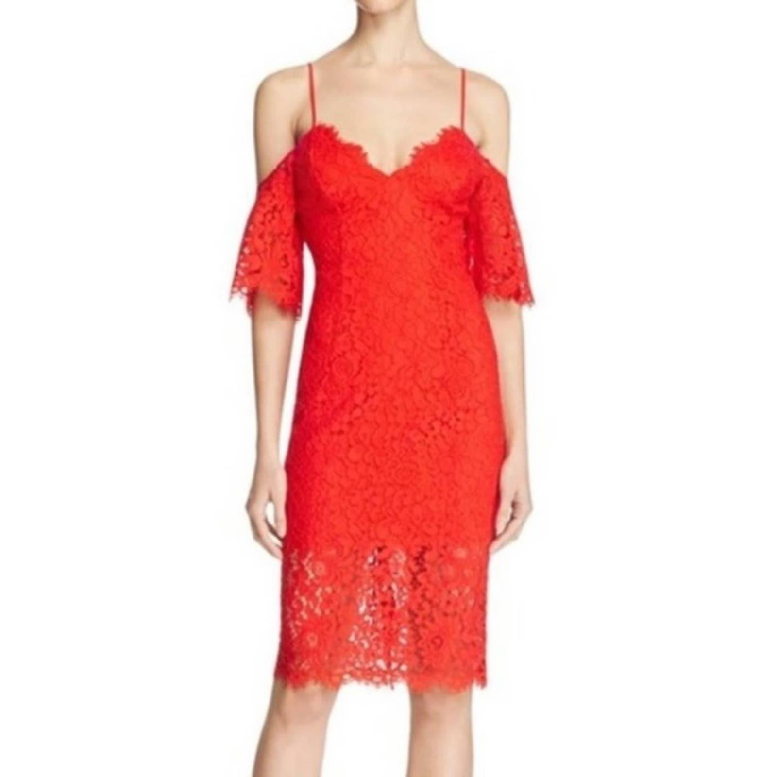 NWT Bardot Karlie Lace Dress in Red