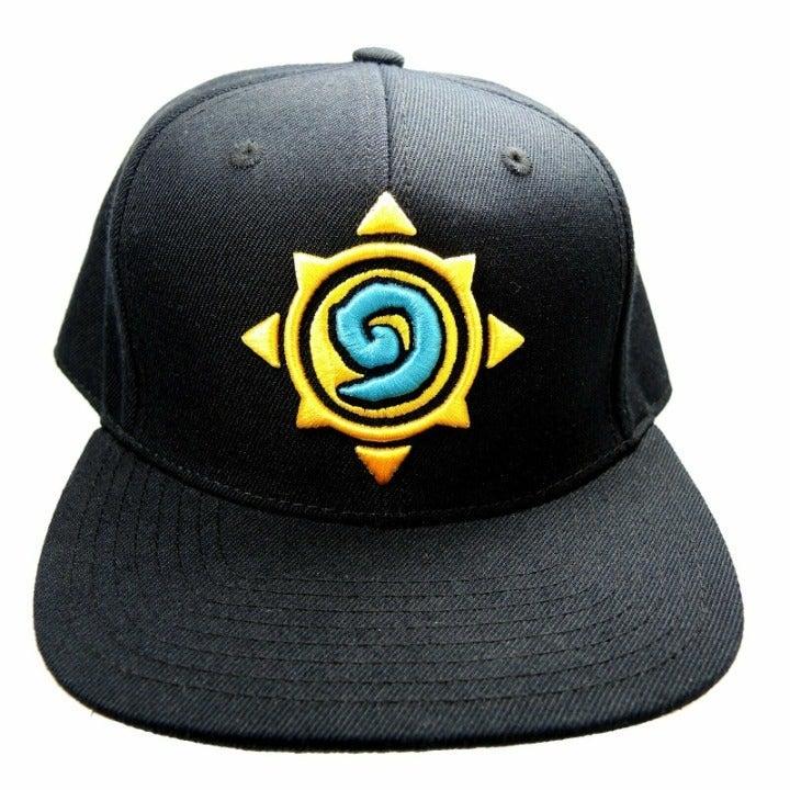 Hearthstone Rose Hat ~ Black Snapback