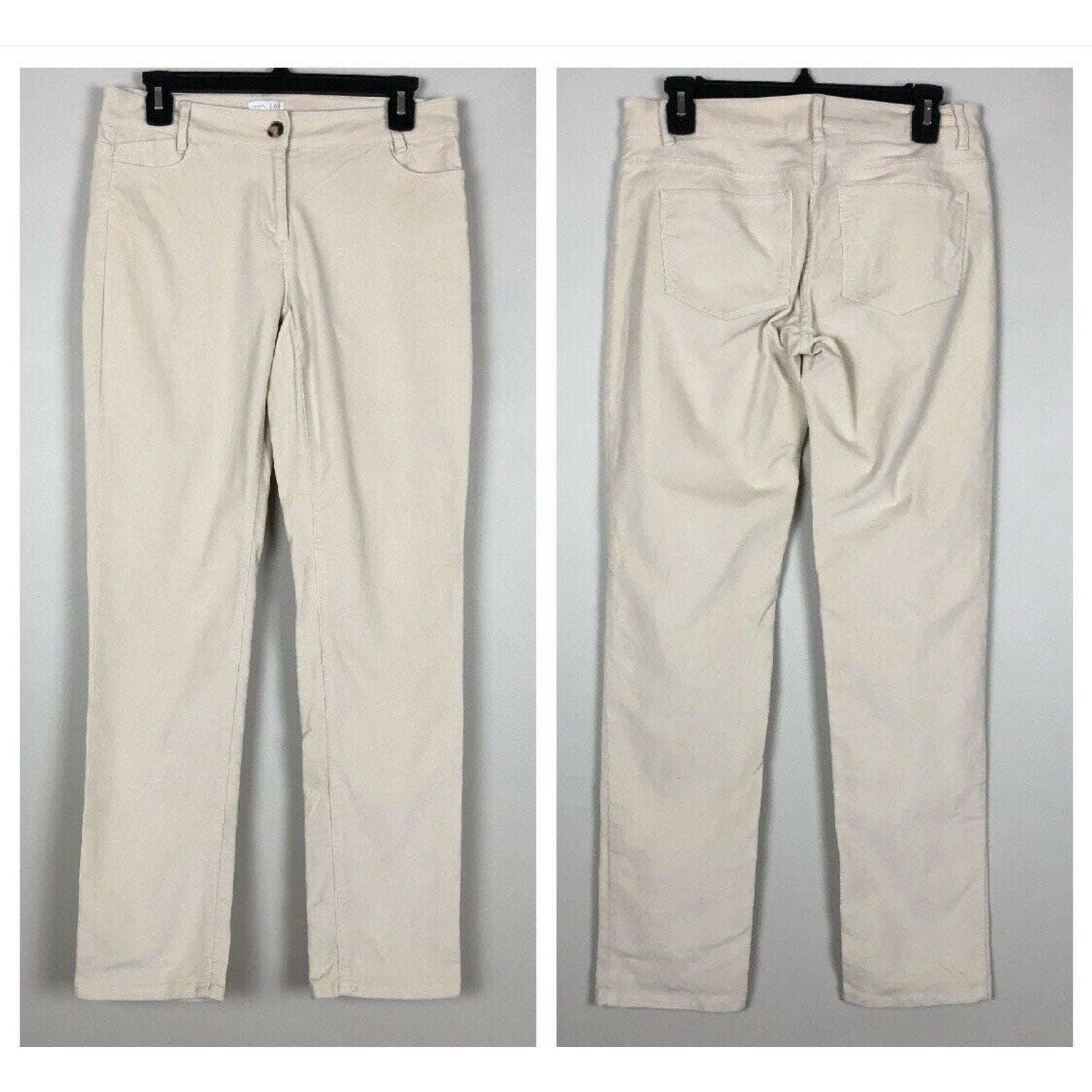 J Jill Corduroy Pants 2 Cream Beige