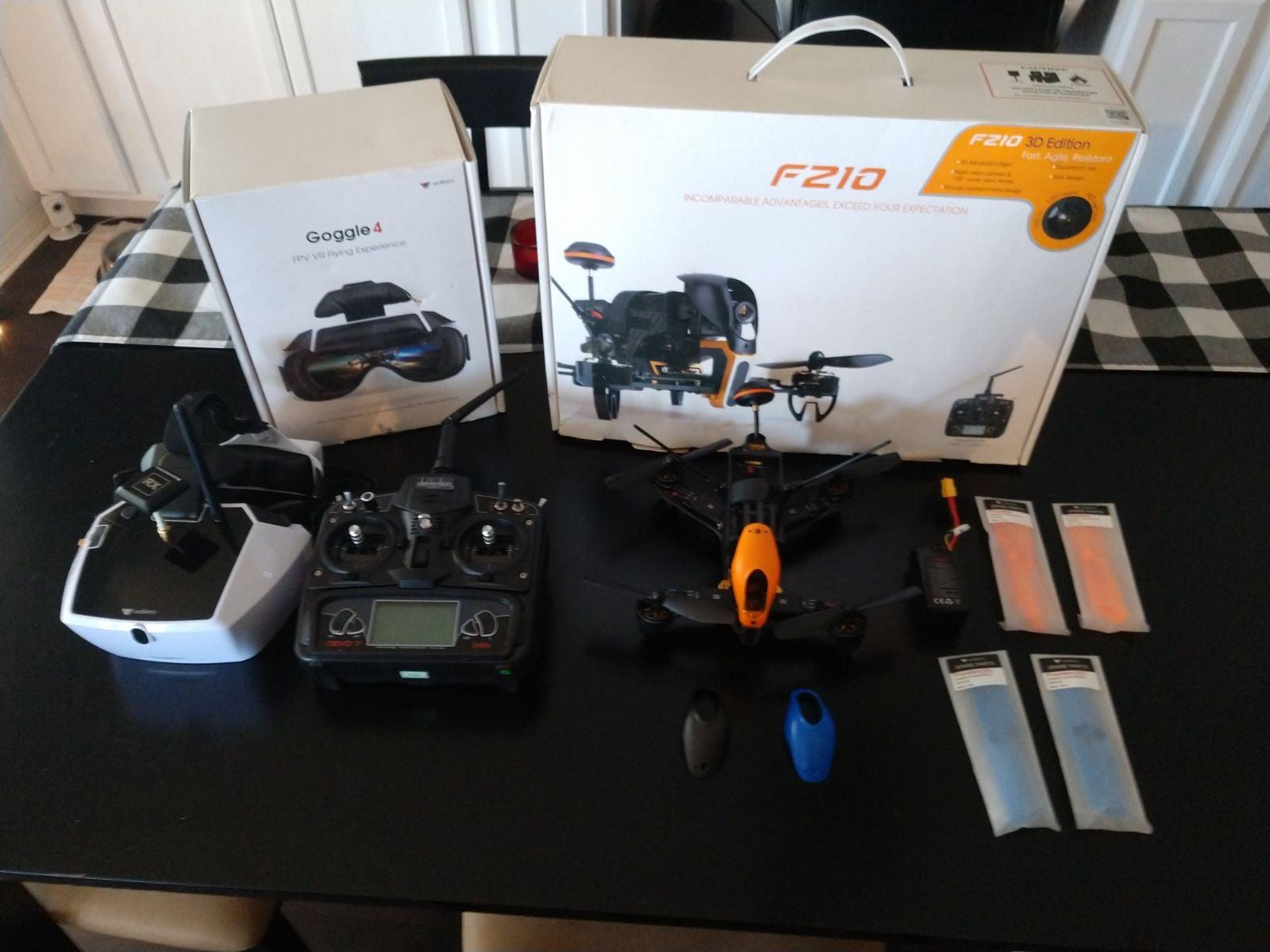 Walkera F210 Quadcopter and FPV Goggles