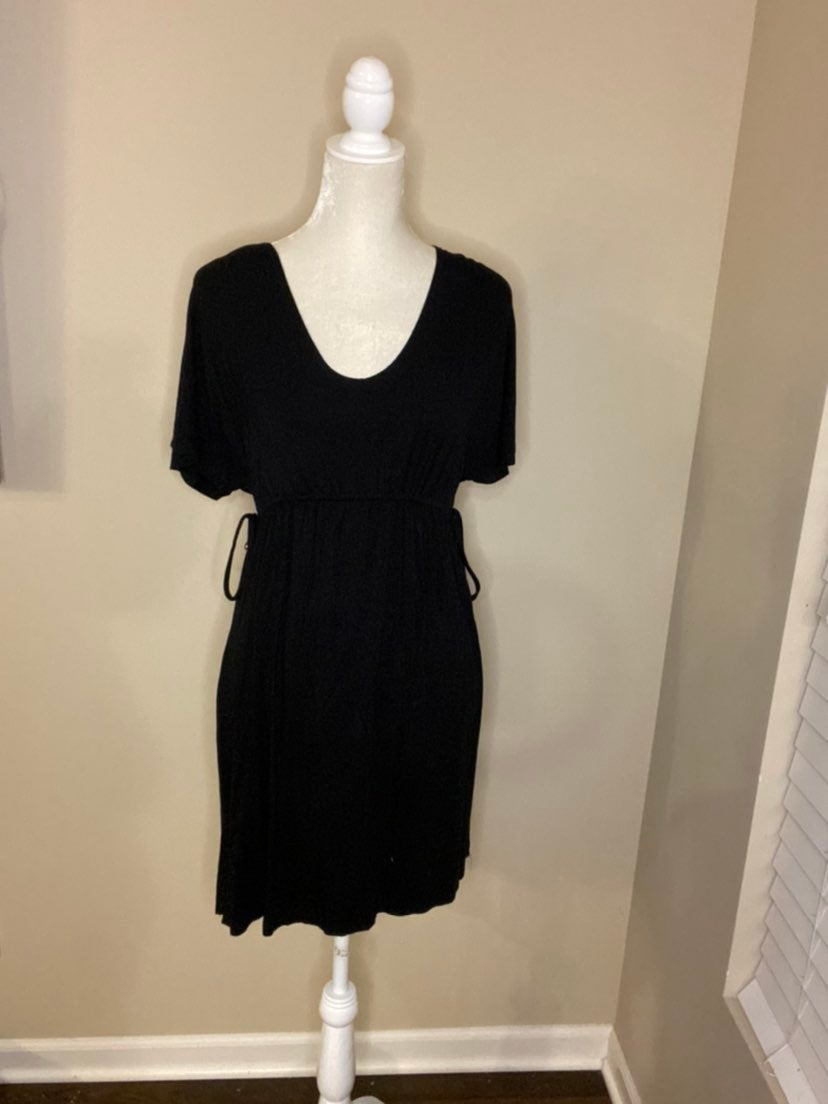 Merona | Black Short Sleeve Dress (S)