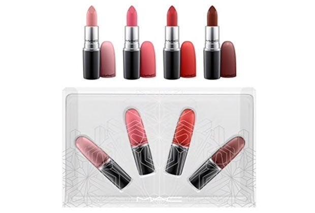 MAC Lipstck Snow Ball Lip Kit Warm 4pc