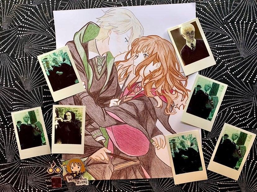 Harry Potter Draco Malfoy Anime Art