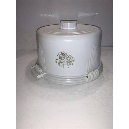 vintage 1950s cake Saver White Plastic