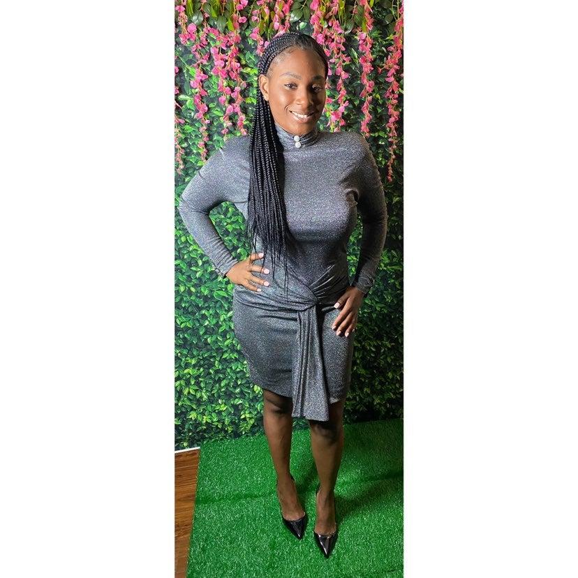 Mignon New York Party Vintage Gray Dress