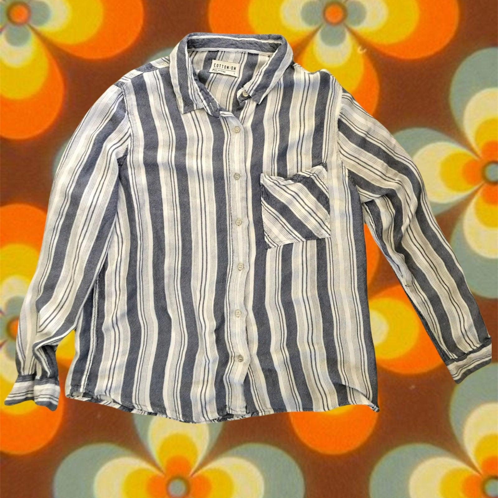 Beach stripe blouse