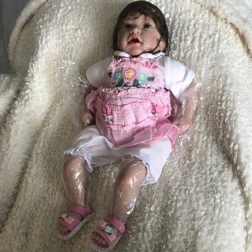 reborn baby doll hair weighted plush bod