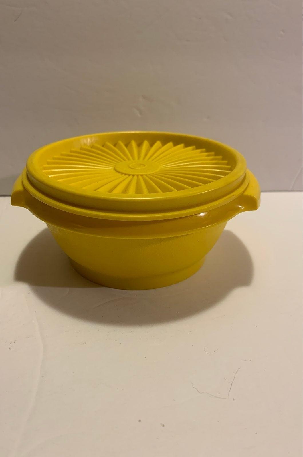 Tupperware Servalier Yellow Bowl W/ Lid