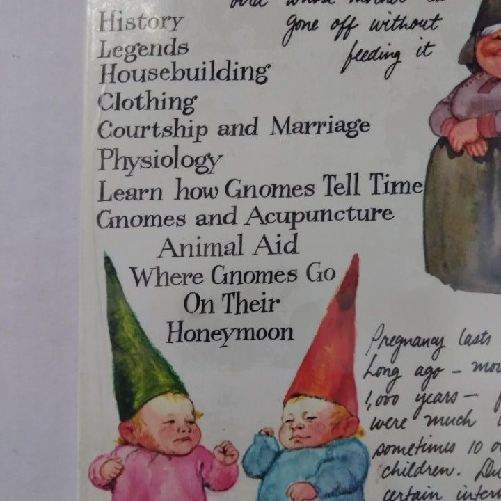 Vintage 1970's GNOMES Hardcover Book NEW