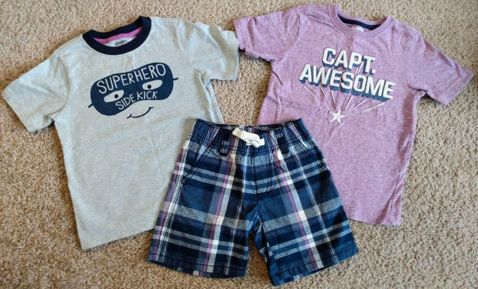 Captain Awesome Gymboree Summer Set 2T