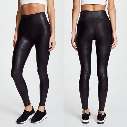 Spanx Faux Leather Black Legging Small