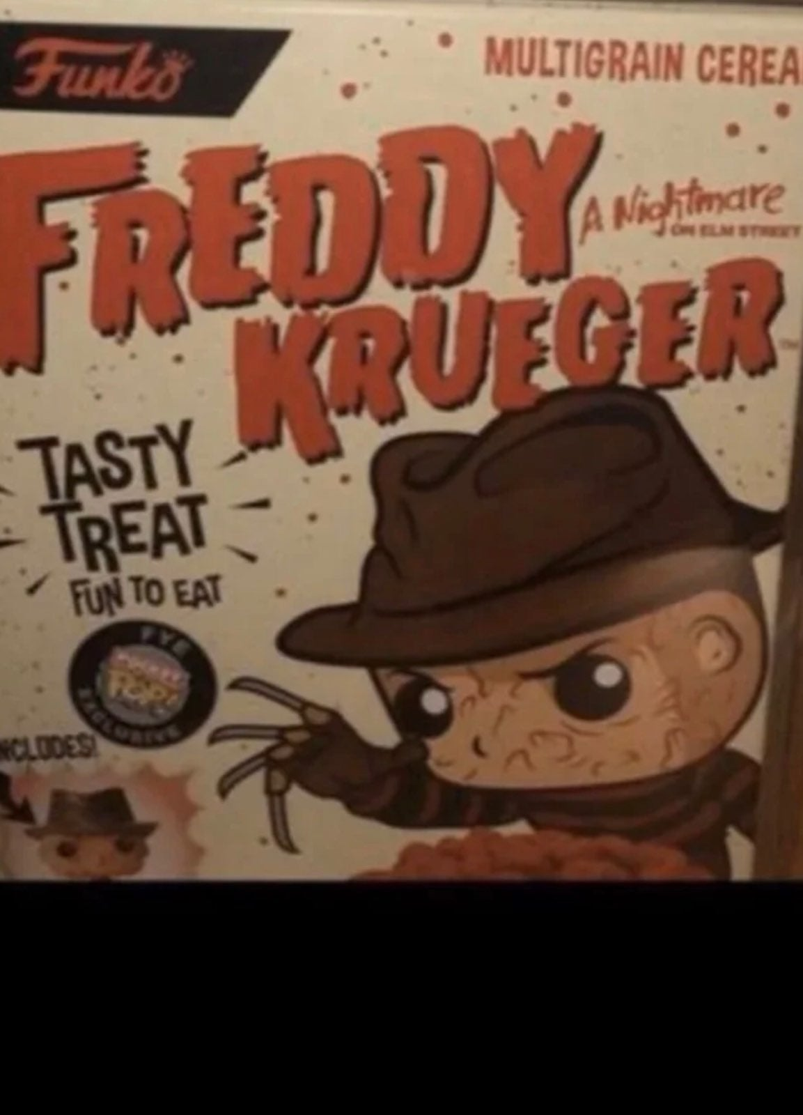 freddy krueger Funko cereal with box pro