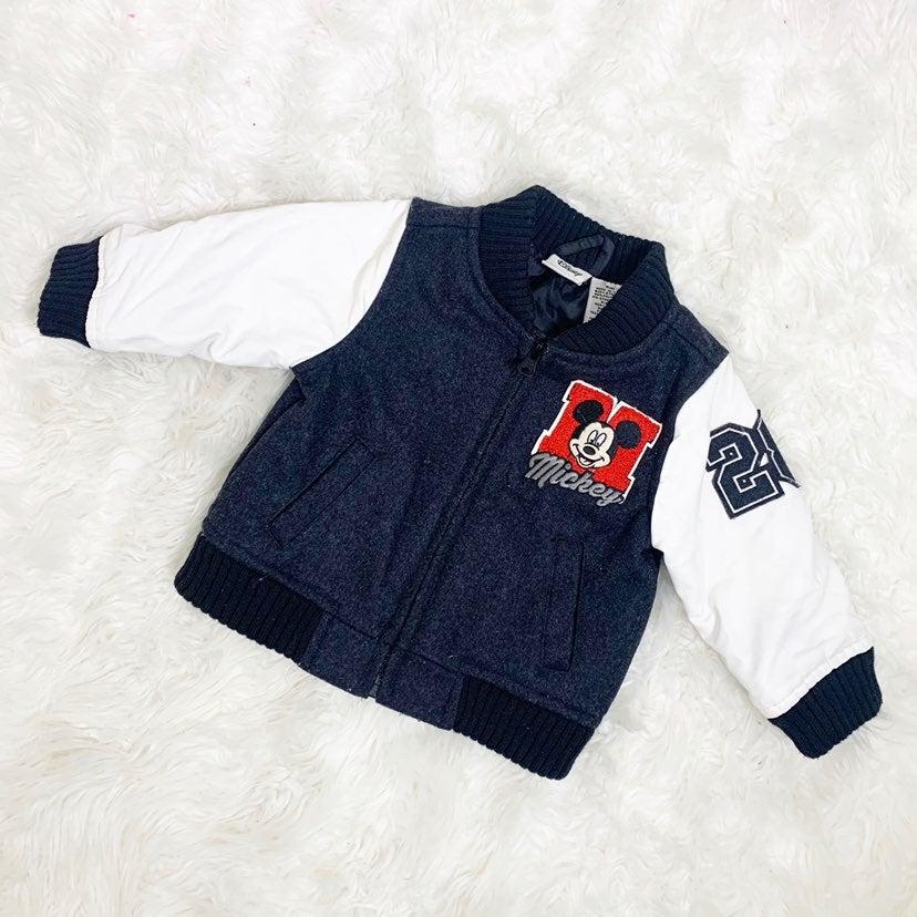 Disney Mickey Wool Blend Bomber Jacket S