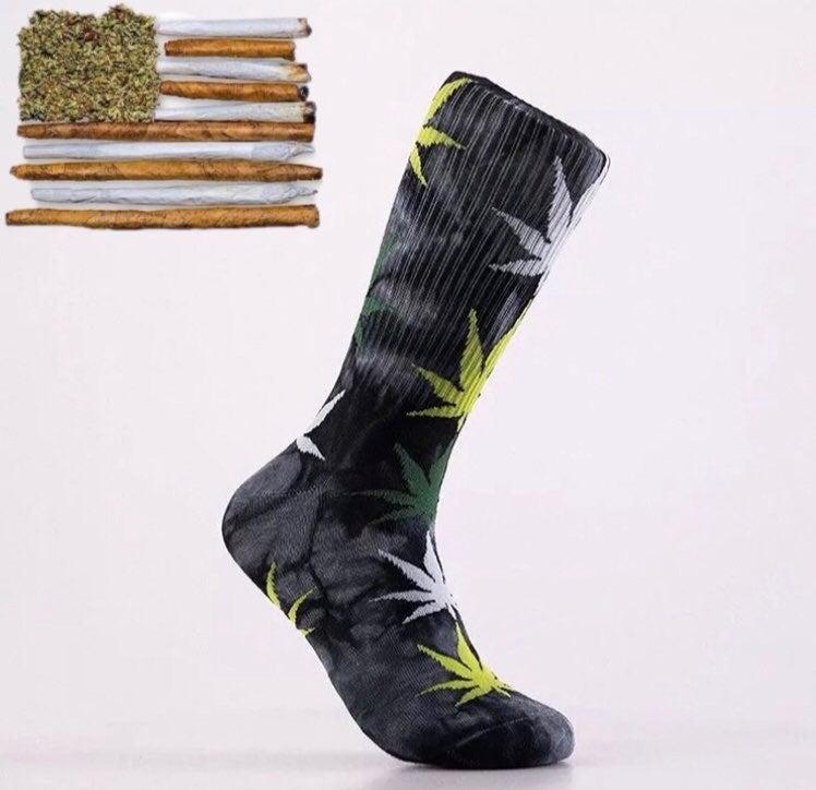 2 pairs weed socks black/yellow yellow/b