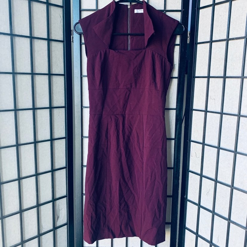 Marc New York maroon sheath dress 0