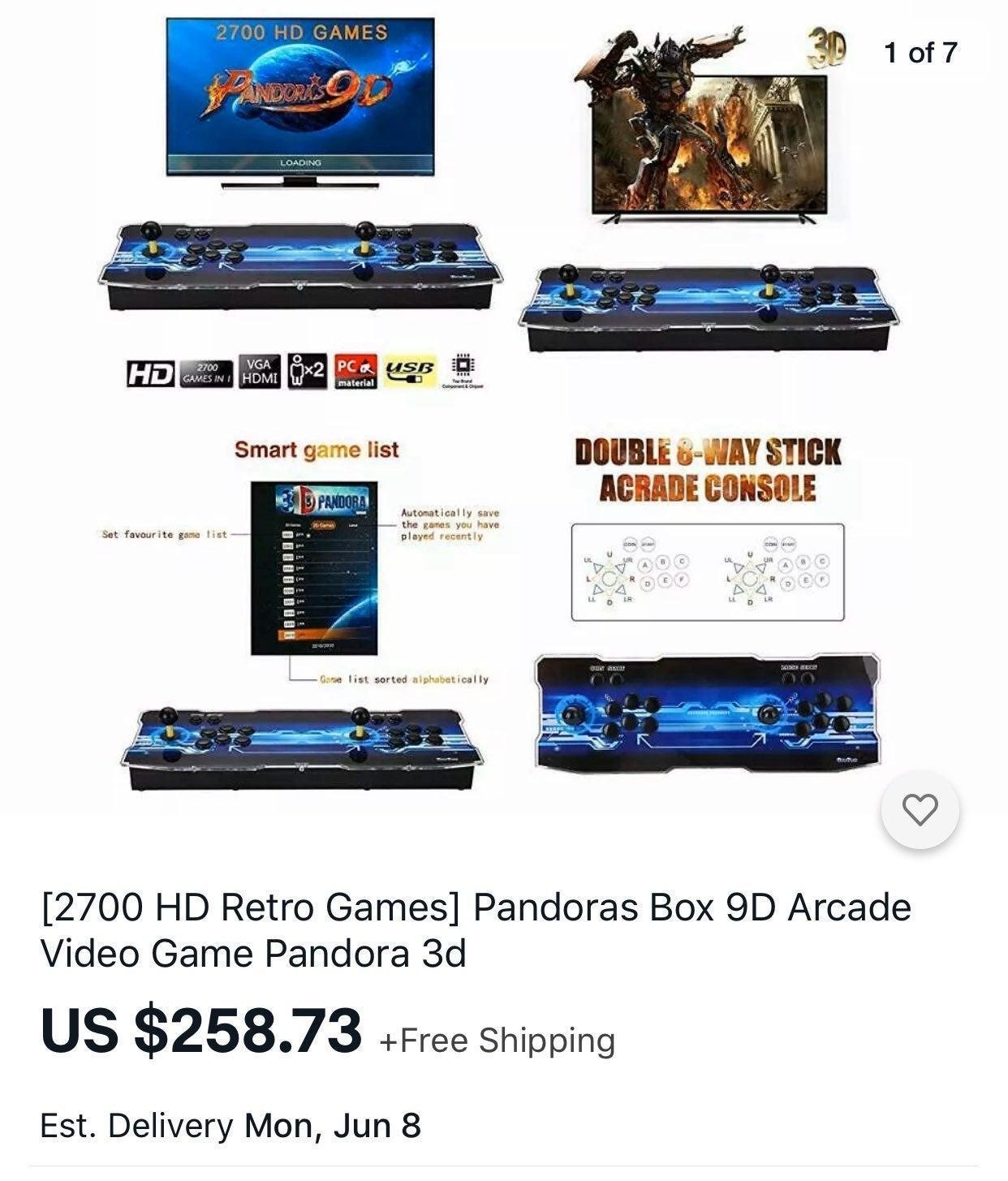 [2700 HD Retro Games] Pandoras Box 9D