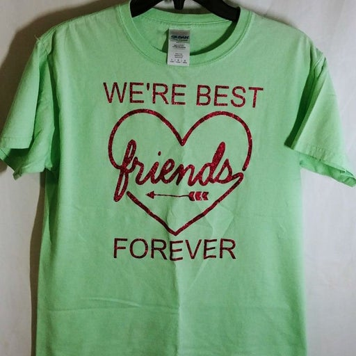 *ONLY $4* Girls L Mint Best Friends Tee